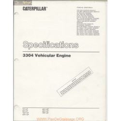 Caterpillar Specifications 3304 Vehicular Engine