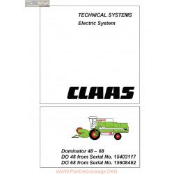 Claas Do48 Do68 Dominator 22855149 0299 857 0 Sys El En 144 Technical Systems