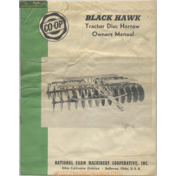 Co Op Black Hawk Tractor Disc Harrow Owners Manual