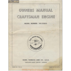 Craftsman Engine 691115 Owners Manual