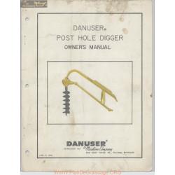 Danuser Post Hole Digger Owners Manual