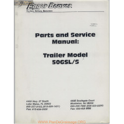 Eager Beaver Trailer Model 50gsl S Parts And Service Manual