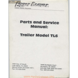 Eager Beaver Trailer Model Tl6 Parts And Service Manual