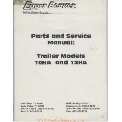 Eager Beaver Trailer Models 10ha 12ha Parts And Service Manual