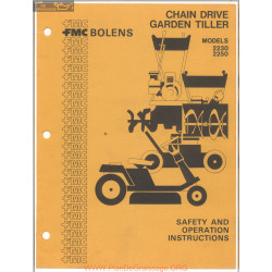 Fmc Bolens Models 2230 And 2250 Chain Drive Garden Tiller Safety And Operation Instructions