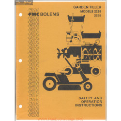 Fmc Bolens Models 2235 And 2255 Garden Tiller Safety And Operating Instructions