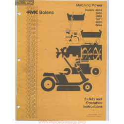 Fmc Bolens Models 8554 8555 8618 8621 8635 And 8644 Mulching Mower Safety And Operating Instructions