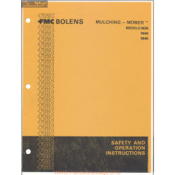 Fmc Bolens Models 9635 9644 And 9645 Mulching Mower Safety And Operating Instructions