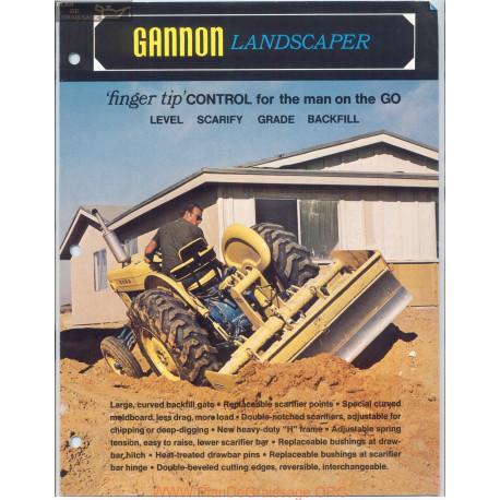 Gannon Landscaper 3g 102 Fiche Technique