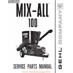 Gehl 100 Mix All L Services Parts Manual 903477