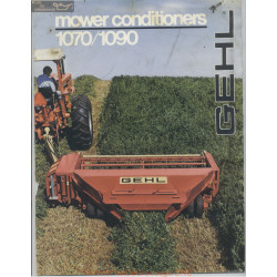 Gehl 1070 And 1090 Mower Conditioner Brochure February 1981