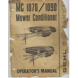 Gehl 1070 And 1090 Mower Conditioner Operators Manual November 1977