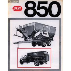 Gehl 750 850 Fiche Info
