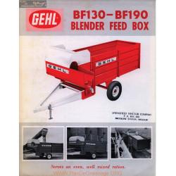 Gehl Bf130 Bf190 Fiche Info
