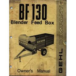 Gehl Bf130 Owner S Manual