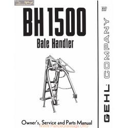 Gehl Bh1500 Bale Handler Owner Service Parts Manual 901977