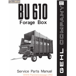 Gehl Bu 610 Forage Box 901407