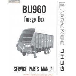 Gehl Bu 960 Forage Box 903069