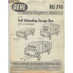 Gehl Bu710 Self Loading Forage Box 2234a May