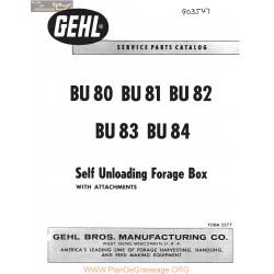 Gehl Bu80 81 82 83 84 Self Unloading Forage Box 903547