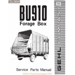 Gehl Bu910 Forage Box Service Parts Manual