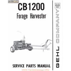 Gehl Cb1200 Forage Harvester Service Parts Manual