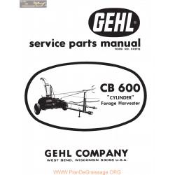 Gehl Cb600 Cylinder Forage Harvester Service Parts Manual
