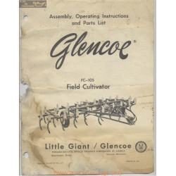 Glencoe Fc 105 Field Cultivator Assembly Operating Instructions And Parts List