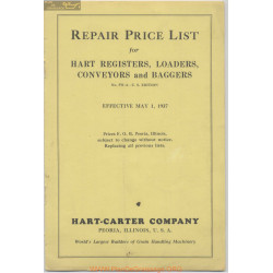 Hart Carter H 661 1 May Repair Price List 1937