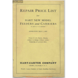 Hart Carter H 694 1 May Repair Price List 1937