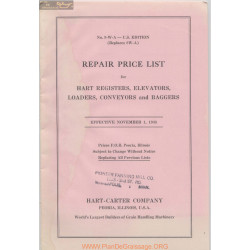 Hart Carter H 881 1 November Repair Price List 1948