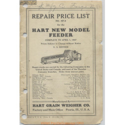 Hart Carter H453 10m 3 27 1 May Repair Price List 1927