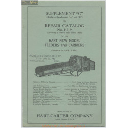Hart Carter Hf9 15 April Repair Catalog 1942