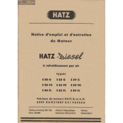 Hatz 80 85 89 G Fg Fl Notice Emploi Entretien