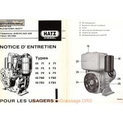 Hatz E 71 75 79 780 785 Notice Entretien