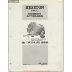 Hesston 1400 Manure Spreader Parts Listing