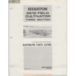 Hesston 2210 Field Cultivator Three Section Parts Listing R