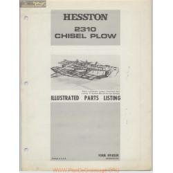 Hesston 2310 Chisel Plow Parts Listing R