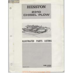 Hesston 2310 Chisel Plow Parts Listing