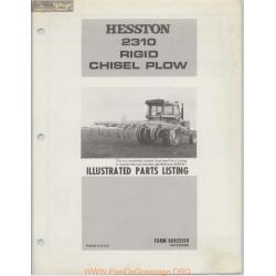 Hesston 2310 Rigid Chisel Plow Parts Listing R2