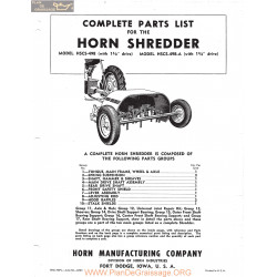 Horn Hscs 498 498a Shredder Fiche Technique