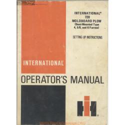 International 720 Moldboard Plow Model Operator Manual