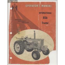 International Harvester Model 856 Tractor Operators Manual