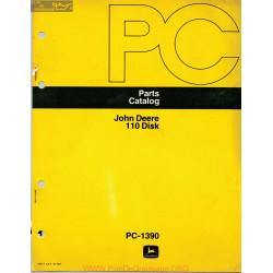 John Deere 110 Disk Part Catalog Pc 1390