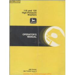 John Deere 118 120 High Pressure Washers Models Operator Manual Om Ty20655 I3