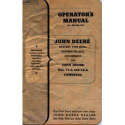 John Deere 11a 12a Combines Operatior Manual Om H19 1248