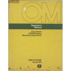 John Deere 1600m Mounted Chisel Plow Operator Manual Om N159398 G5