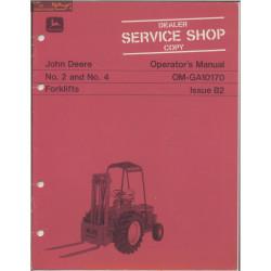 John Deere 2 4 Forklifts Operator Manual Omga10170