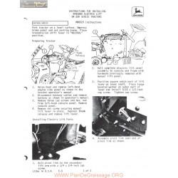 John Deere 200 Early Electric Lift Installation Instruction Bm15885 M80529