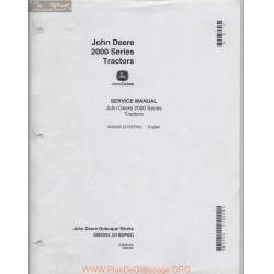 John Deere 2000 Series Tractor Technical Service Manual 1963 Sm2035